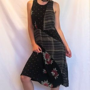 Anthropologie Patchwork Midi Dress